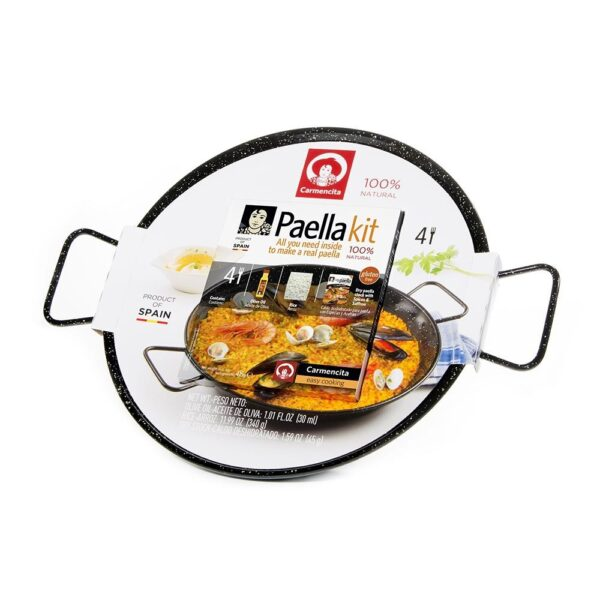 Kit de Paellas Para 4 personas con Paellera Esmaltada Carmencita